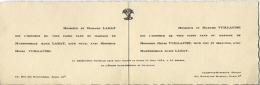 25  -  CHAMPOUX MARCHAUX  -  FAIRE PART MARIAGE  -  Famille LABAT Et VILLAUME - Boda