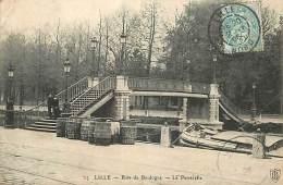N-16 1157 : LILLE BOIS DE BOULOGNE CANAL PENICHE PONT VOIE NAVIGABLE - Lille