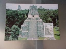 FRANCE (1986) UNESCO: Temple De Tikal , Guatemala - Cartes-Maximum