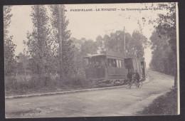 Paris Plage Le TOUQUET Le Tramway Dans La Forêt. Plan Peu Courant - Le Touquet
