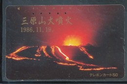 Japan  Telefonkarte -Vulkan *110-49179 * Japan Phonecard - Volcans