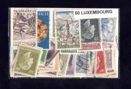 LUXEMBOURG  50 Timbres Differents Oblitérés Trés Bon état - Luxemburgo