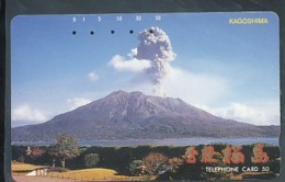 Japan  Telefonkarte -Vulkan *390-02717 * Japan Phonecard - Volcans