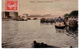 @ Paris - Le Viaduc Du Point Du Jour - CP Toilée (unique Sur Delcampe?) - Non Classificati