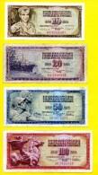*** YOUGOSLAVIE *** Série 10 - 20 - 50 - 100 Dinars Et Un Billet De 100000 Dinars - Jugoslawien