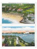 PALM BEACH (USA) Ensemble De 2 Cartes Breakers Hotel Lake Worth - Palm Beach