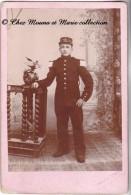 1914 TUNISIE - TUNIS - 25 EME REGIMENT - CDV PHOTO MILITAIRE GRAND FORMAT - Guerra, Militares