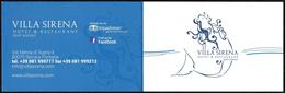 FOOD - ITALIA SANT'ANGELO D'ISCHIA - VILLA SIRENA - HOTEL & RESTAURANT - Visiting Cards