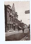 Cpsm FOURMIES 59 La Poste Et Rue Saint Louis - Fourmies