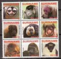Suriname 2009 Monkeys, Apen, Singes MNH/**/Postfris - Surinam