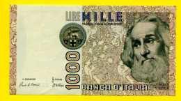 *** ITALIE *** Deux Billets Différents De 1000 Lires (un Proche Du Neuf Et Un Avec Une Coupure) - 1.000 Lire