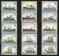 FALKLAND ISLANDS MAIL SHIPS SET WITH 1982 IMPRINT  MNH - Boten