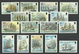 FALKLAND ISLANDS 1989 SAILING SHIPS SET MNH - Boten