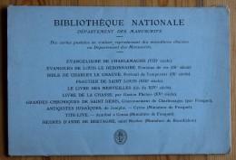Paris - Bibliothèque Nationale - Département Des Manuscrits - Pochette De 10 Cartes Postales Reproduisant 10 Miniatures - France