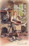 Cinderella Fairy Tale, PFB #8666 Aritst Image, C1900s Vintage Embossed Postcard - Fairy Tales, Popular Stories & Legends
