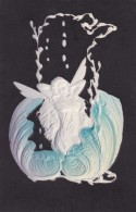 PFB #8120, Art Nouveau Image Fairy In Shell, C1900s Vintage Embossed Postcard - 1900-1949