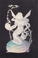 PFB #8120, Art Nouveau Image Fairy On Shell With Seaweed(?), C1900s Vintage Embossed Postcard - 1900-1949