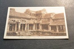 PK465- Photo Nadal Saigon 94- -  Ruines D Angkor -Angkor-Vath,courelle Interieure - Cambodge