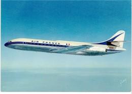 CPSM FRANCE THEMES TRANSPORTS AERONAUTIQUE - Caravelle D'Air France - 1946-....: Ere Moderne