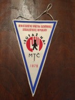 Pennant - Fanion SUTAZNA MTC 1979 - Slovensky Ustredny Vybor SZM Brastislava - ZENIT SZM - Apparel, Souvenirs & Other