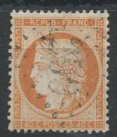 Lot N°32221  Variété/n°38, Oblit GC 1299 DIEPPE (74), Filet OUEST, Tache Blanche Derriere La Tête - 1870 Siege Of Paris