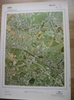 GRAND PHOTO VUE AERIENNE 66 Cm X 48 Cm De 1984  ANS LONCIN - Cartes Topographiques