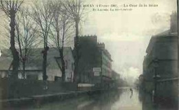 76 CPA ROUEN Crue De La Seine Ile LACROIX La Rue Centrale - Rouen
