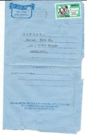 Nigeria Via Yugoslavia.Macedonia.1982.Aerogramme.Air Letter.nice Stamp Tuberculosis Germs.TB.Microscope - Nigeria (1961-...)