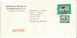 Jordan Via Yugoslavia.Macedonia.1985..Air Mail.nice Stamps - Jordan