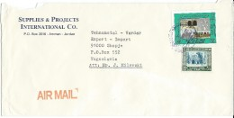 Jordan Via Yugoslavia.Macedonia.1985..Air Mail.nice Stamps - Jordanie