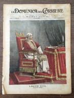 REVUE DOMENICA DEL CORRIERE ANNO 5 N° 28  12/6/1903  PAPA LEON 13 VATICANO OLI SASSO GITA CANTON TICINO - Livres, BD, Revues