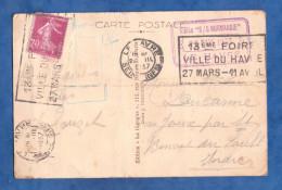CPA - LE HAVRE - Visite Du Paquebot S/S Normandie Le 28 Mars 1937 - Voir Cachet - Flamme Voir Du Havre - Paquebots