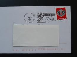 16/08/2016 Hippocampe Seahorse Flamme Monaco Sur Lettre Postmark On Cover - Poststempel