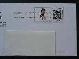 Football UEFA EURO 2016 Timbre En Ligne Sur Lettre (e-stamp On Cover) TPP 3201 - UEFA European Championship
