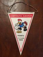 ROMANIA Fanion / Pennant - FRF Campionatul European PENO FRANTA 1984 - Apparel, Souvenirs & Other