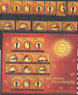 INDIA, 2016, MNH,YOGA, YOGA POSITIONS, 12v + SHEETLET - Health