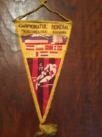 Pennant Romania - Campionatul Mondial Hokey 1972 Miercurea Ciuc Romania! RAR! - Apparel, Souvenirs & Other