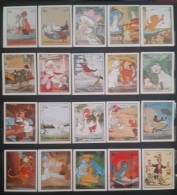 GS22 - Fujeira 1972 Mi. 1510-152 Complete Set 20v. ImperforateMNH - Walt Disney Film Pongo And Perdita Cartoons Comics - Fujeira