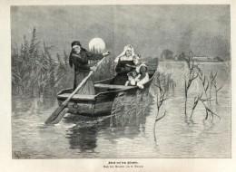 """Abend Auf Dem Chiemsee (R.Raupp)   -  Druck , Entnommen Aus """"Die Gartenlaube """", 1920 - Zeitungen & Zeitschriften"""