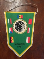 Pennant Romania - A.G.V.P.S. ROMANIA  CUPA PRIETENIEI LA TIRUL VANATORESC 1981 - Apparel, Souvenirs & Other