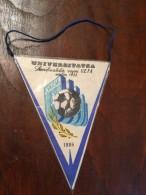 Pennant Romania - Universitatea Craiova VS Steaua Bucuresti 1986 - Apparel, Souvenirs & Other