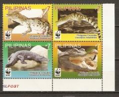 Philippines 2011 REPTILES CROCODILES WWF 4v MNH ** - W.W.F.