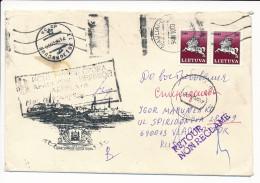 Multiple Stamp Cover - 1994 Retour Non Reclamé From Russia - Lituania
