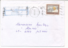 Mi 535 Solo Domestic Cover Pope John Paul II - 14 May 1997 Utena - Lithuania