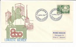 Mi 451 Y FDC / Slania Copenhagen 800 Years Anniversary - 6 April 1967 - FDC