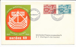 Mi 475-76 FDC / Slania Nordic Cooperation Centennial Joint Issue - 28 February 1969 - FDC