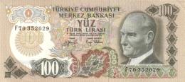 TURKEY 100 TURK LIRASI L.1970 (1979) P-189b UNC FLUORESCENT S/N [TR266c] - Turkey