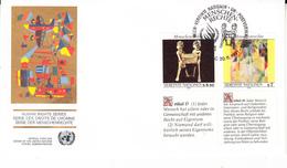 NATIONS UNIES - VIENNE - FDC - 1991 - Déclaration Des Droits De L'homme - FDC