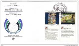 NATIONS UNIES - VIENNE - 1991 - Déclaration Des Droits De L'homme - FDC