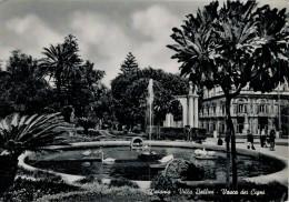 CATANIA  VILLA  BELLINI   VASCA  DEI  CIGNI           (VIAGGIATA) - Catania